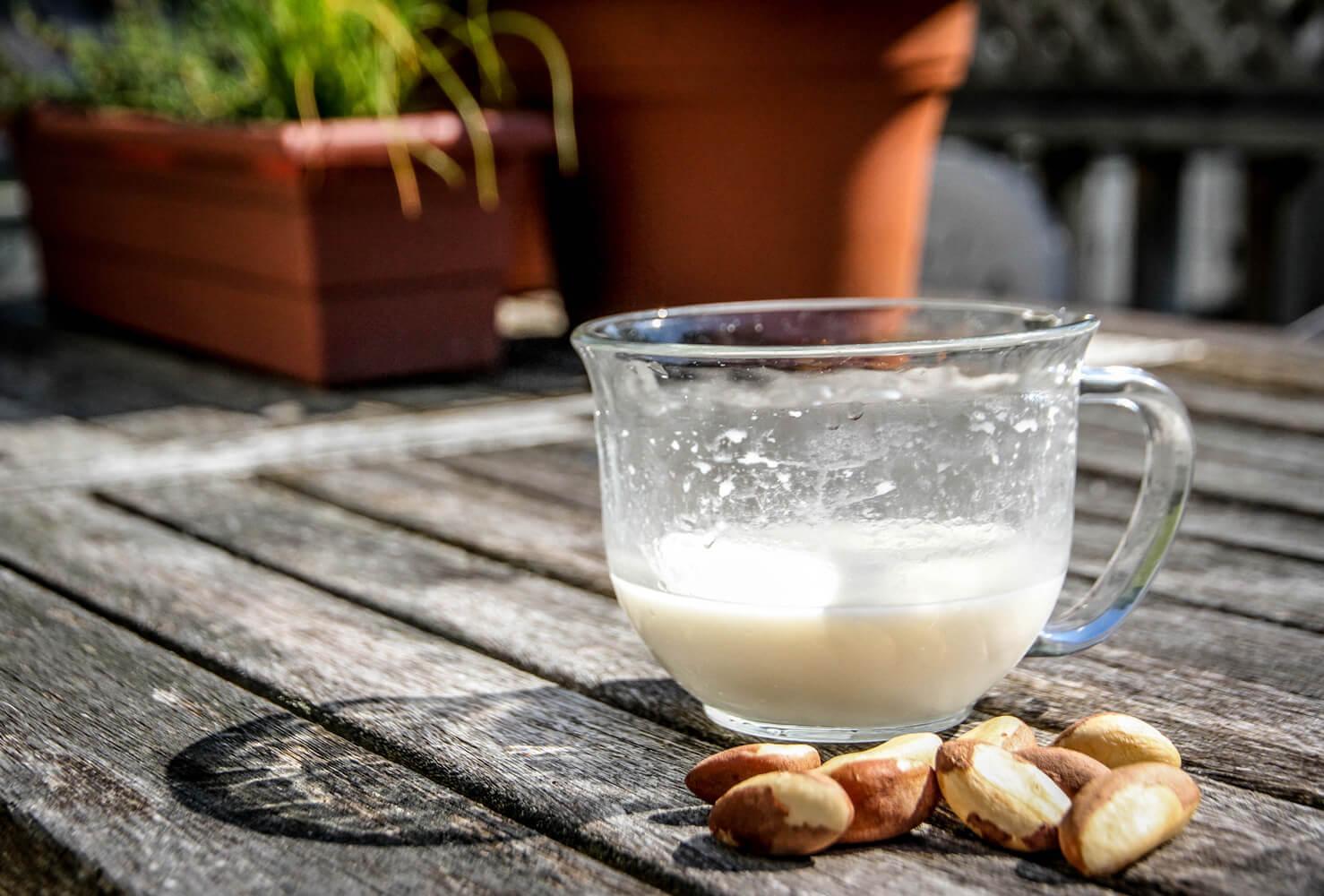 Молоко из бразильского ореха