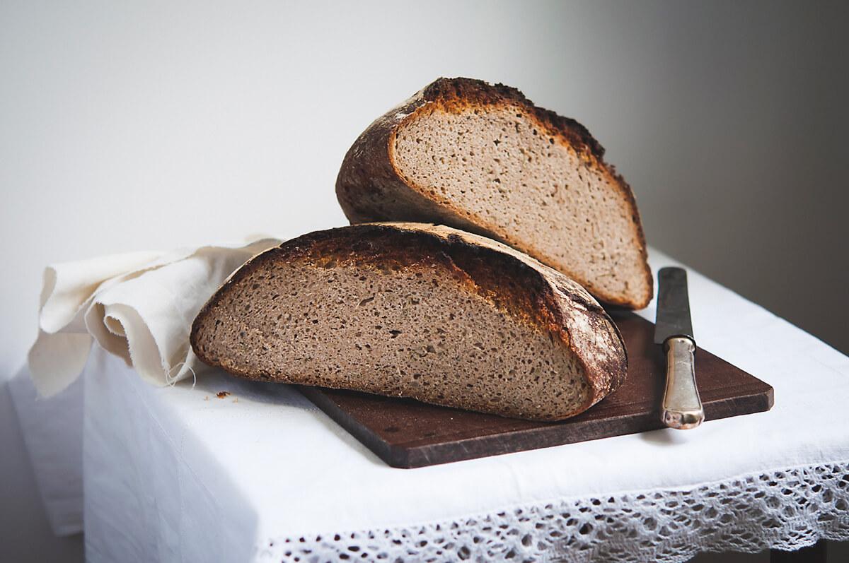 Домашний ржаной хлеб на закваске