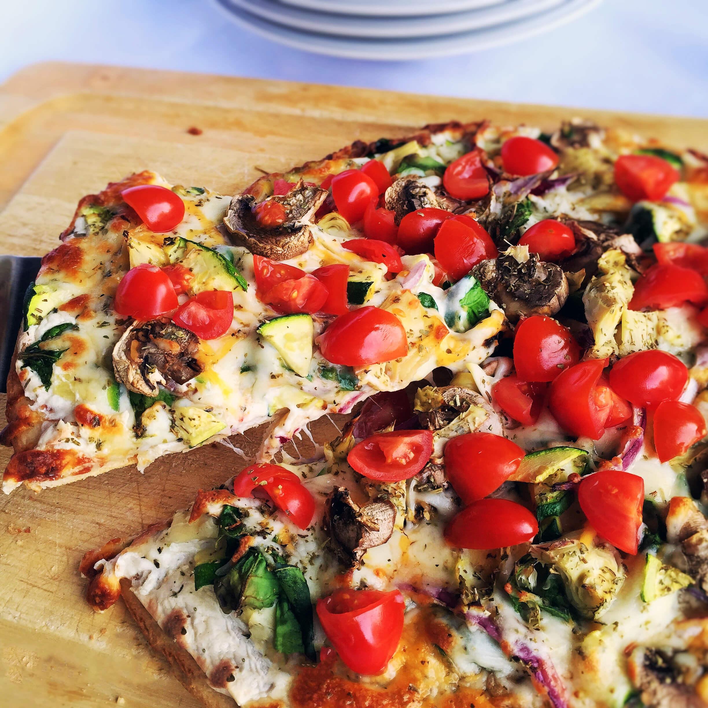 рецепт вегетарианской пиццы